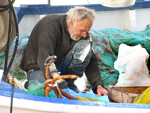 Vanha kalastaja Pireuksessa 26.11.09