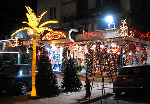 Aleksandras -kadun joulukauppa, Ateena 6.12.09