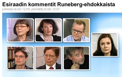 Carlson, Fagerholm, Hotakainen, Karlström, Verronen, Ilvesheimo, Siro