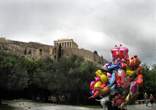 Parthenon ja ilmapallot 5.12.09