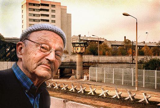 """Michel Tournier ja pätkä Berliinin muurin """"kuolemankaistaa""""."""