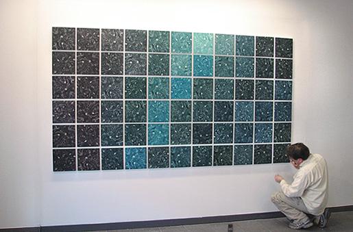 Sauli Iso-Lähteenmäen teos Eden rakentuu galleria Himmelblaun avajaisiin.