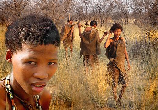 Alkuperäisväestöä, Kalahari, Etelä-Afrikka