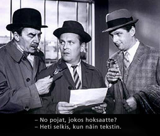 Tähdet kertovat komisario Palmu. Ohjaus Matti Kassila 1962.
