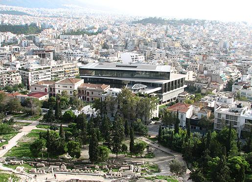 Akropoliin uusi arkeologinen museo, avattu 20.6.2009