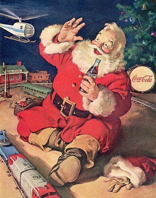 Haddon Sundblom: Santa Claus Coca-Colan joulukampanjaan.