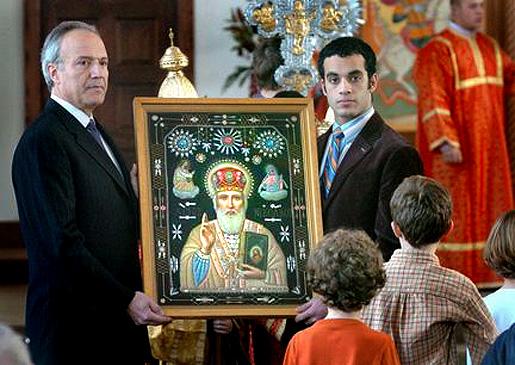 Pyhän Nikolaoksen ikoni.