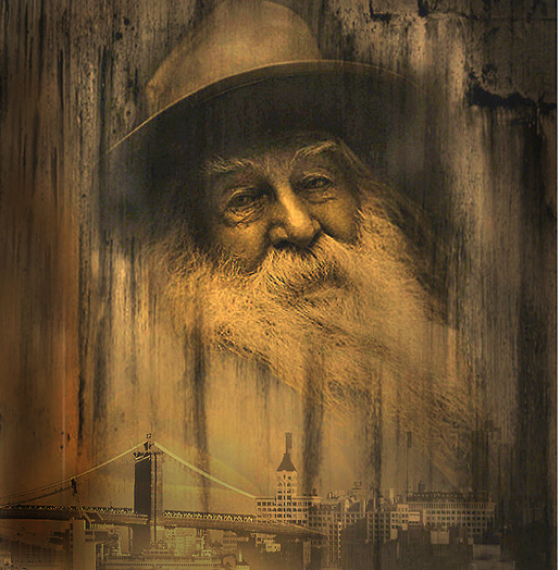 Walt Whitman, kuva sivuilta Redbubble by Mary Ann Reilly