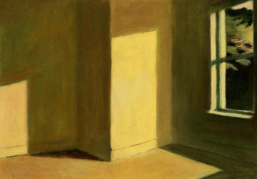 Edward Hopper: Sun in an empty room, 1963.