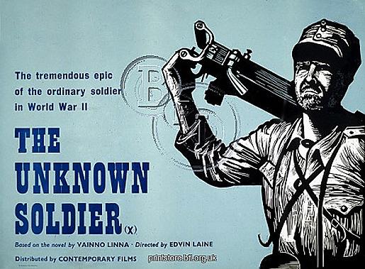 Tuntematon sotilas (1954), Academy poster/Peter Strausfeld