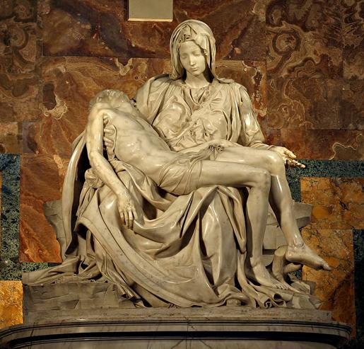 Michelangelo: Pièta, Rooman Pietarinkirkko 1499.