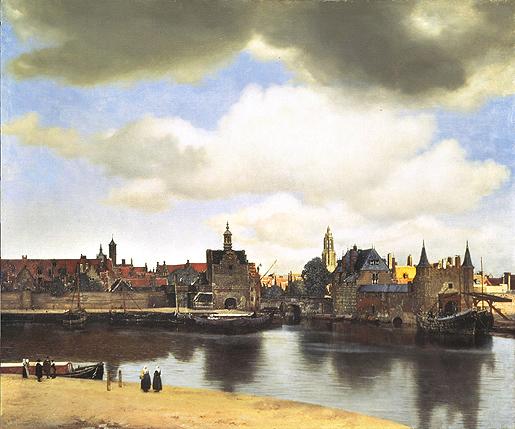 Jan Vermeer: Näkymä Delftistä 1660-1661.
