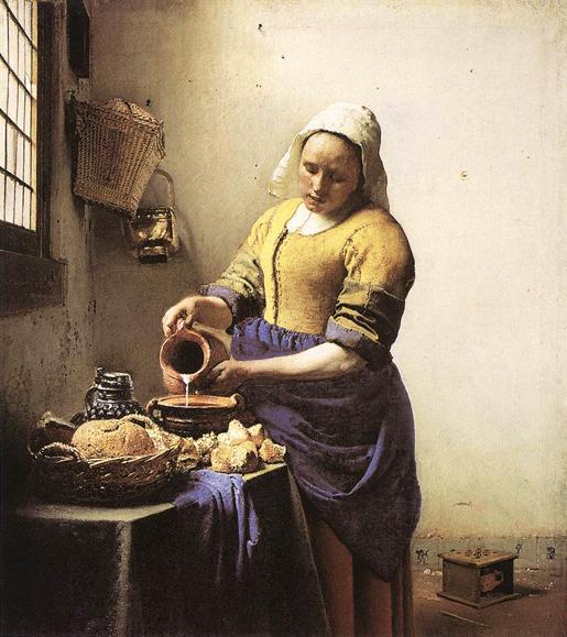 Jan Vermeer: Maitotyttö 1658-1660