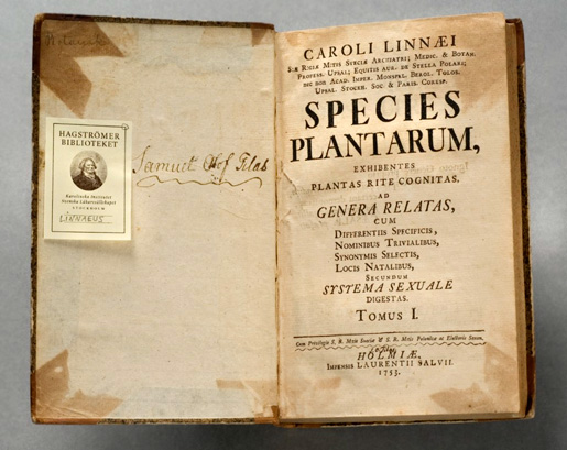 Linné: Species Plantarum