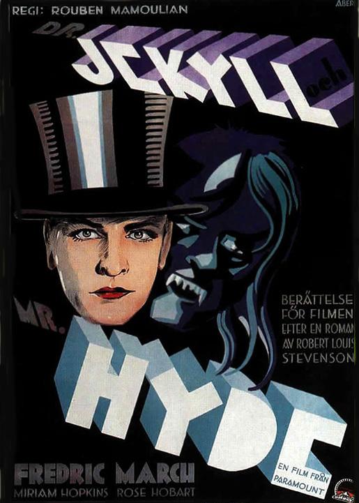 Elokuvajuliste Tri Jekyll & Mr Hyde.