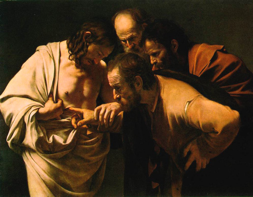 Garavaggio, The Incredulity of Saint Thomas.