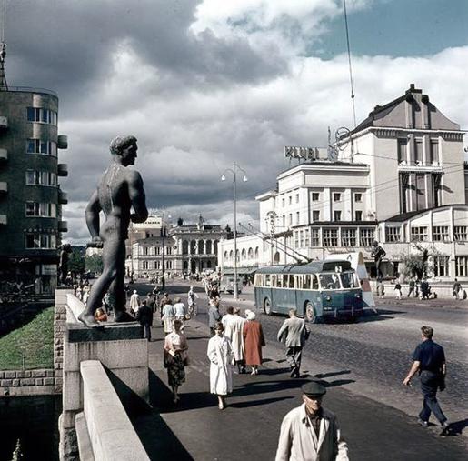 Tampereen Hämeenkatu, 1950-luku.