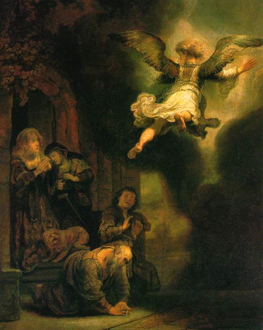 Rembrant, Arkkienkeli ilmestyy Tobiakselle 1637.
