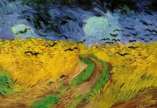 Vincent van Gogh: Varikset viljapellon yllä (osa) 1890.