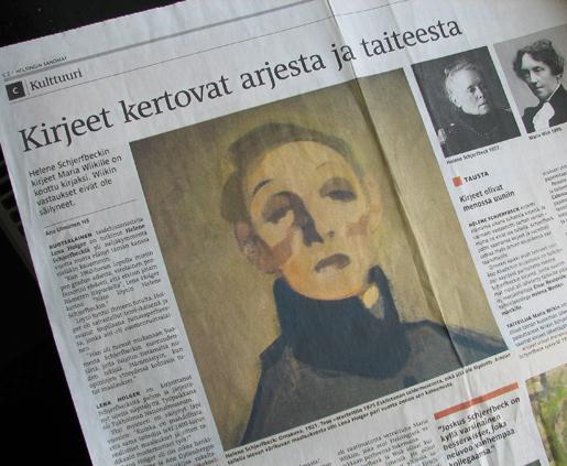 Schjerfbeck-artikkeli, Helsingin Sanomat 11.11.11.