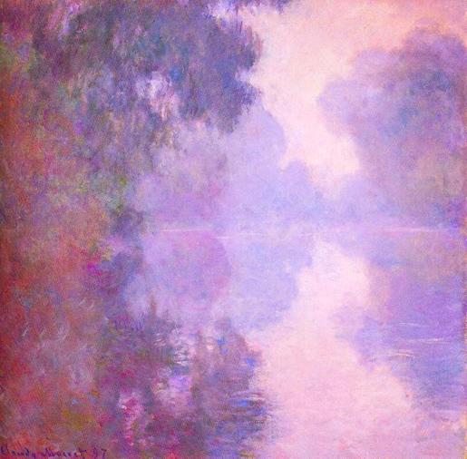 Claude Monet, Misty Morning on the Arm of the Seine at Giverny, 1887.