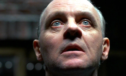 Anthony Hopkins alias Hannibal Lecter elokuvassa Uhrilampaat.