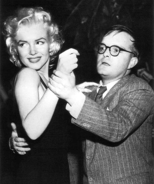 Marilyn Monroe + Truman Capote.