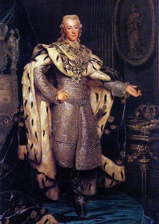 Kustaa III. Signeeraus: Ch. Roslin 1777.