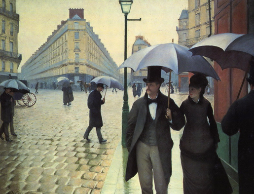 Gustave Caillebotte: Paris Street, Rainy Day, 1887.