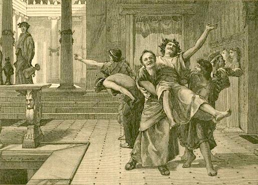 Saturnalia-juhla, NYPL Digital Gallery