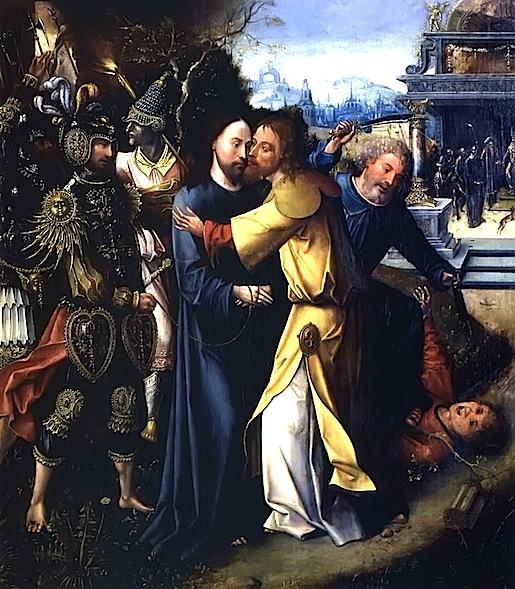 Cornelis Engebrechtsz: The Kiss of Judas, 1500.