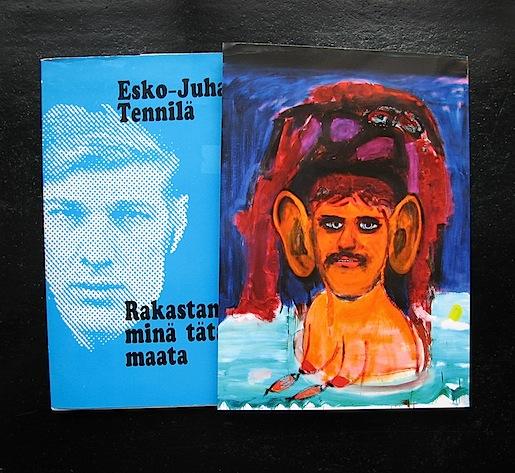 Runokokoelma Esko-Juhani Tennilä. Taidehallin kutsun maalaus Tarmo Paunu.