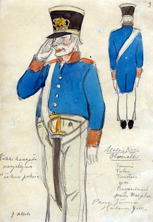 Yrjö Ollilan pukusuunnitelma: Olviretki Schlaussingenissä (1920)