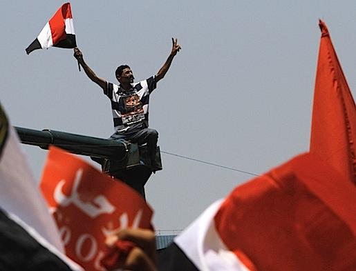 Tahirin aukio, Kairo. Heinäkuu 2013.