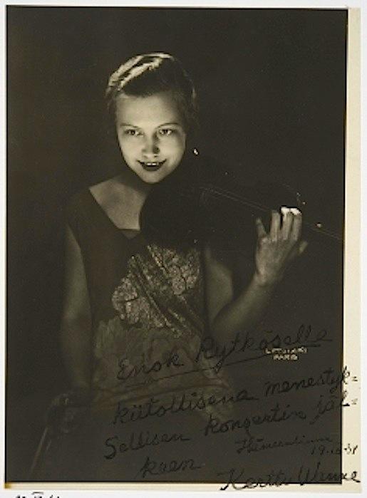 Kerttu Wanne, Pariisi 1934.