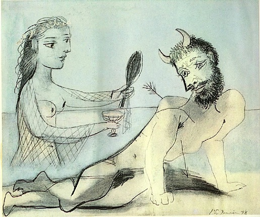 Picasso: Girl helping Minotaur 1938.