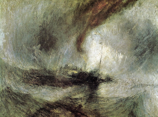 William Turner: Storm Steam Boat off a Harbour's Mouth, 1842