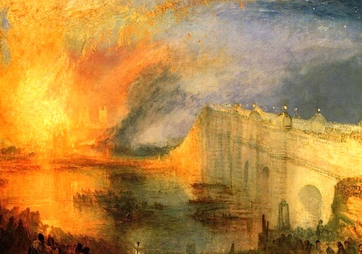 William Turner: The Burning of the Houses of Parliament, 1834
