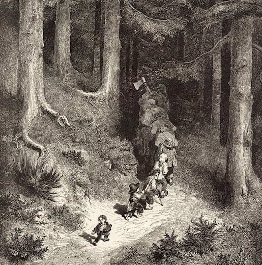 Kuvitus: Gustave Doré, Peukaloinen (Hanhiemon tarinoita)