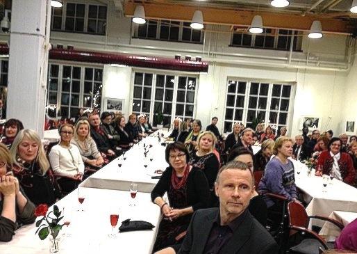 Kirsi Kunnaksen 90-vuotisjuhla, Vapriikin Valssi-ravintola 12.12.2014
