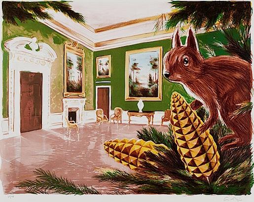 Ernst Billgren: Orava. Litografia (2011)
