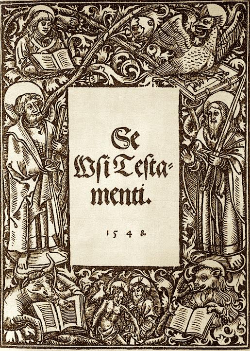 Mikael Agricolan Uuden testamentin käännös: Se Wsi Testamenti 1548.