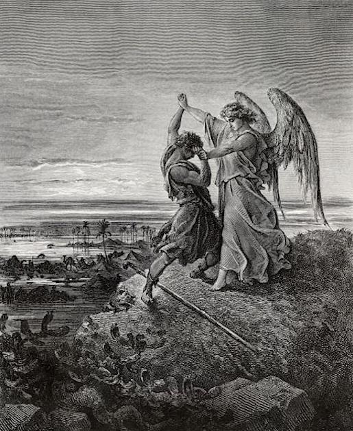 Gustave Doré (1832-1883) Jacobin ja enkelin taistelu