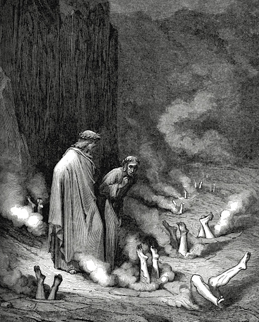 Gutave Dorén kuvitusta Danten La divina commediaan